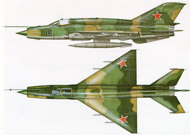 MiG MiG 21 J 7 Fishbed Mongol USSR Russia MiG 21SMT 16.