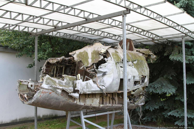 носовая часть Ил-28 потерпевшего катастрофу.